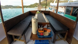 Living Room/Dinning Area on Boat